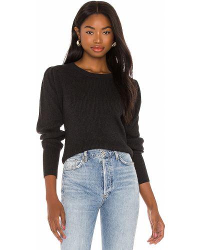 Czarny bawełna włókienniczy sweter Bobi