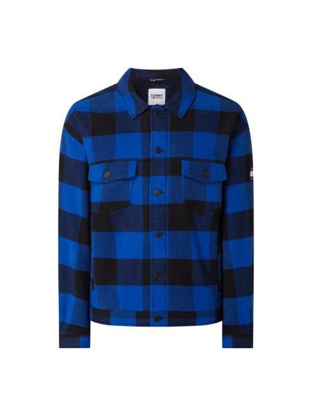 Bawełna niebieski kurtka jeansowa z mankietami z kieszeniami Tommy Jeans