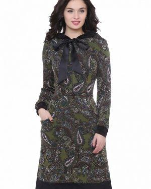 Повседневное платье осеннее зеленый Olivegrey
