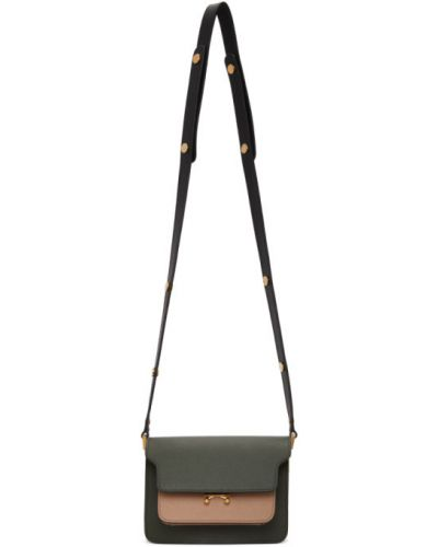 Кожаные черные плавки с карманами Marni