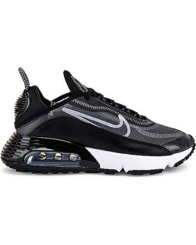 Czarny sneakersy z siatką metal na sznurowadłach Nike