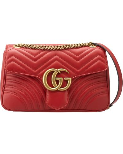 Кожаный сумка с логотипом на молнии Gucci