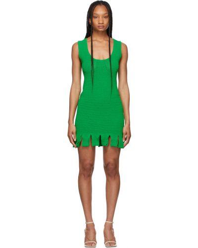 Хлопковое платье - зеленое Bottega Veneta