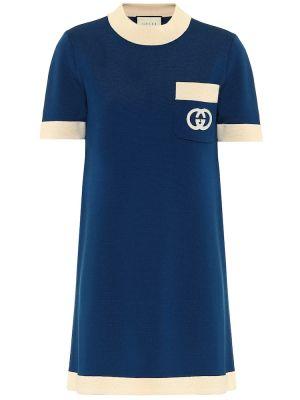 Платье мини с вышивкой винтажная Gucci