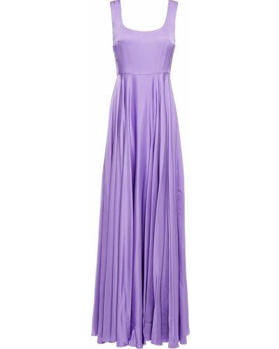 Платье макси атласное - фиолетовое Solace London