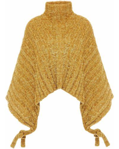 Ажурный свитер на шнуровке золотой Jw Anderson