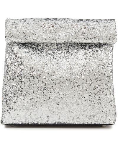 Базовый серебряный клатч из натуральной кожи Simon Miller