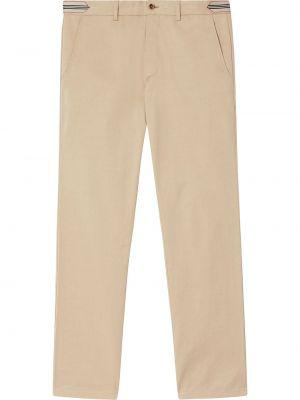 Bawełna spodni spodnie o prostym kroju z paskiem z paskami Burberry