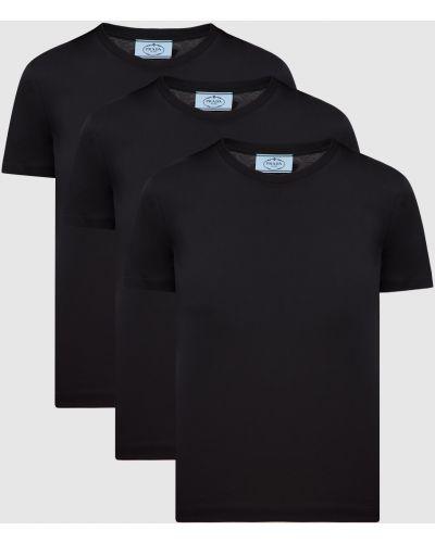 Черная футболка Prada