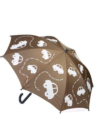 Белый зонт с рисунком котофей