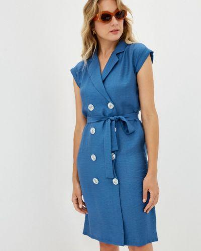 Платье - синее мадам т