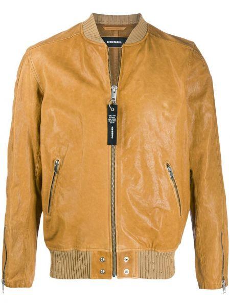 Długa kurtka dżinsowa skórzana Diesel