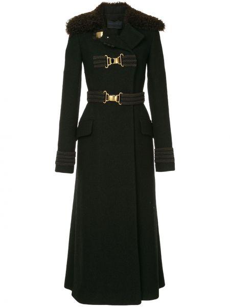 Długi płaszcz podwójnie czarny Proenza Schouler