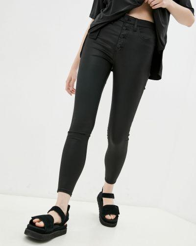Кожаные брюки - черные Calvin Klein Jeans