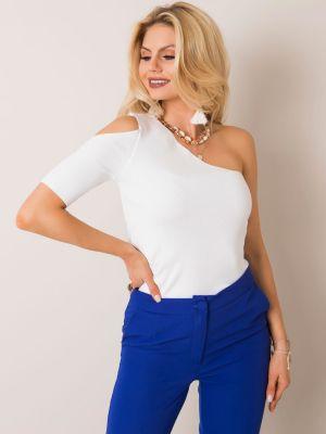 Bluzka asymetryczna - biała Fashionhunters