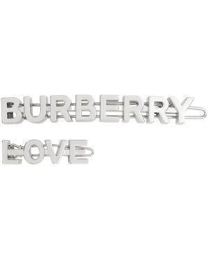 Серебряная заколка металлическая Burberry