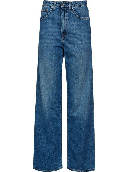 Хлопковые синие джинсы на молнии Toteme