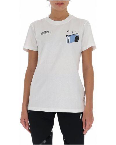 Biała podkoszulka z printem casual Off-white