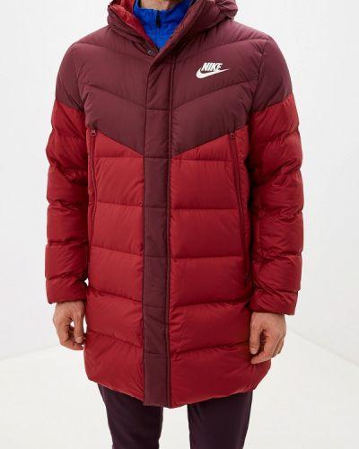 Куртка осенняя бордовый Nike