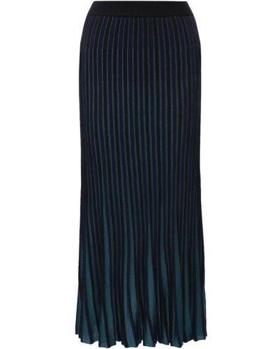 Плиссированная юбка миди из вискозы Kenzo
