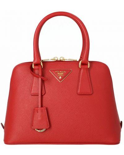 Czerwona torebka skórzana Prada