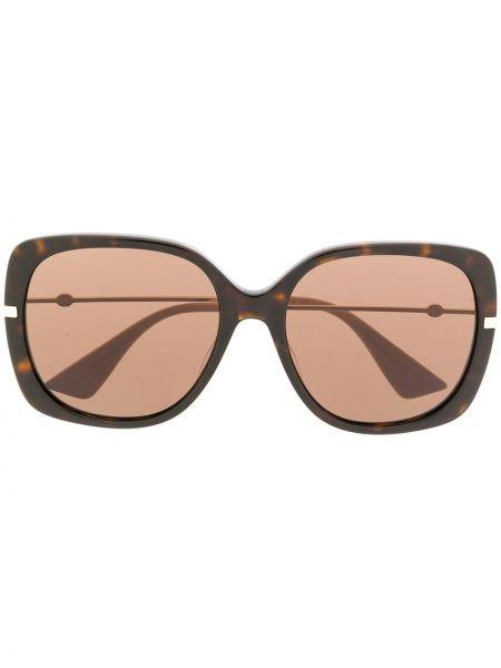 Prosto czarny oprawka do okularów metal Gucci