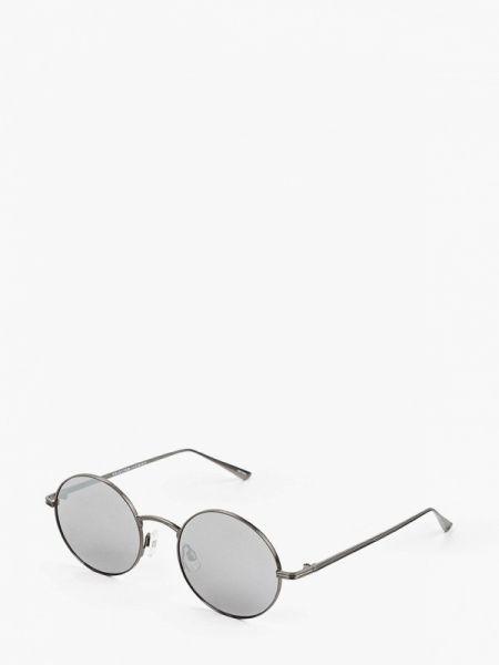 Солнцезащитные очки круглые черные Selected Homme