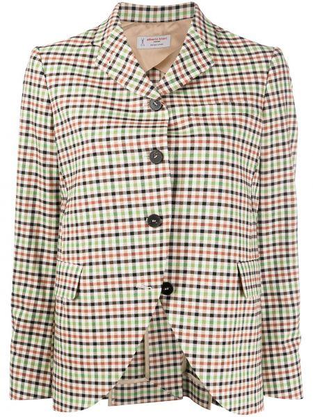 Зеленый пиджак на пуговицах с лацканами Alberto Biani