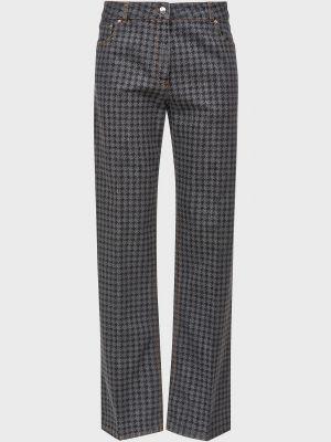 Серые зимние джинсы Nina Ricci
