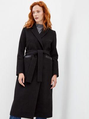 Черное пальто осеннее Asya Malbershtein