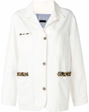 Синий джинсовая куртка на пуговицах Simonetta Ravizza