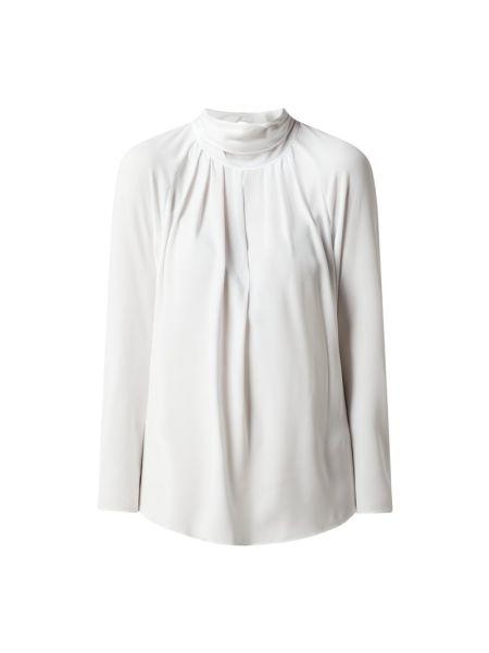 Biała bluzka z wiązaniami z raglanowymi rękawami Windsor