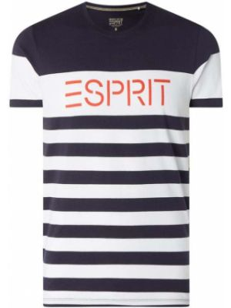 Koszula w paski z logo Esprit