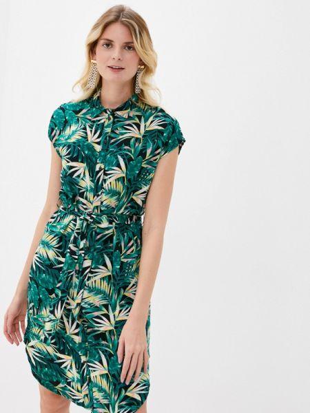 Платье платье-рубашка зеленый Pieces