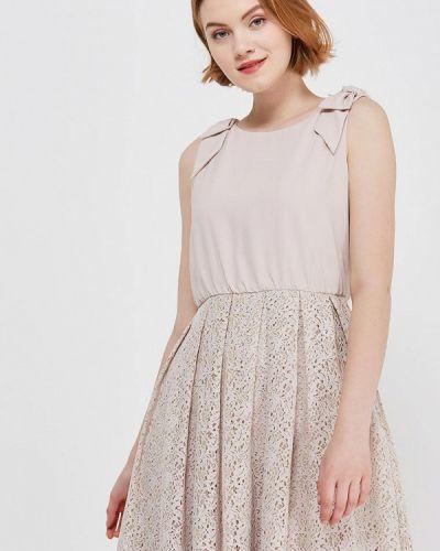 Бежевое платье весеннее Lusio