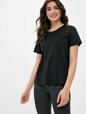 Черная футболка с короткими рукавами Silvian Heach