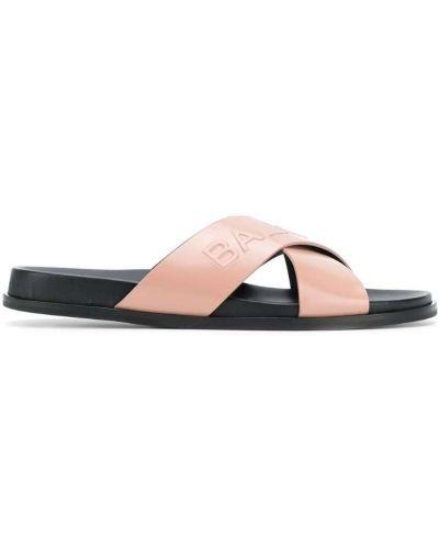 Бежевые сандалии на шнуровке Balmain