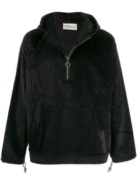 Czarna kurtka z kapturem bawełniana Drole De Monsieur