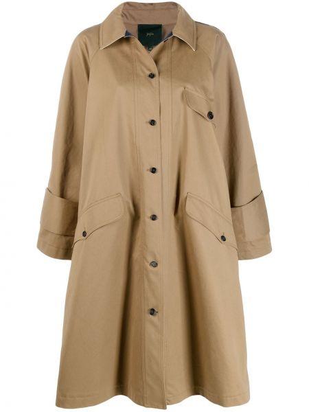 Расклешенное пальто классическое с воротником на пуговицах Jejia