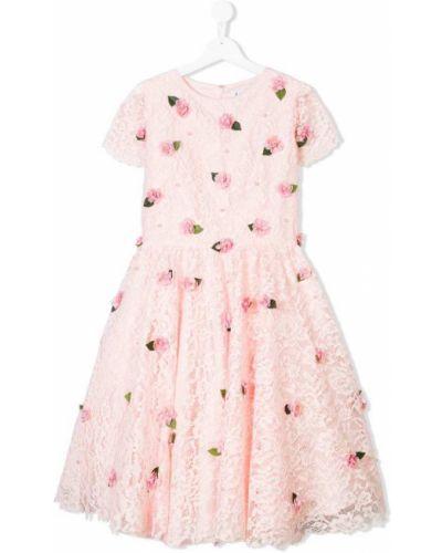 Розовое платье с рукавами Lesy