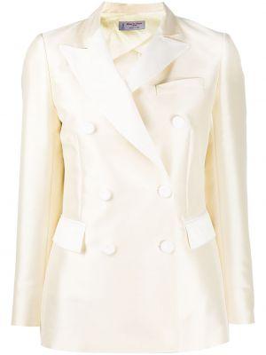 Белый короткая куртка двубортный на пуговицах Alberto Biani