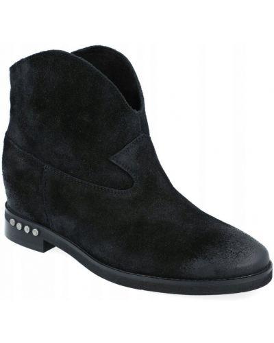 Welur czarny buty Badura