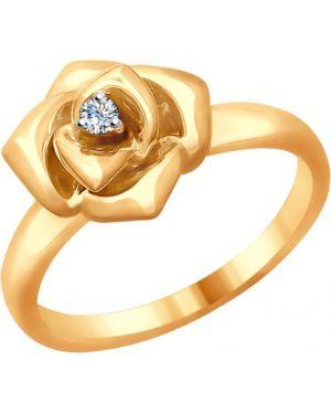Кольцо с бриллиантом Sokolov
