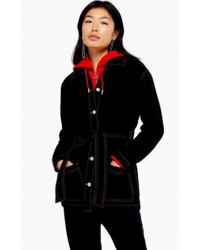 Джинсовая куртка осенняя черная Topshop