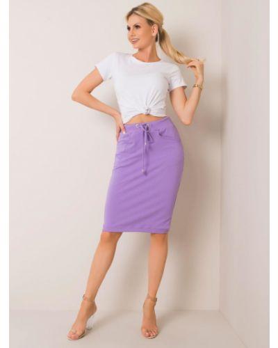 Fioletowa spódnica bawełniana Fashionhunters