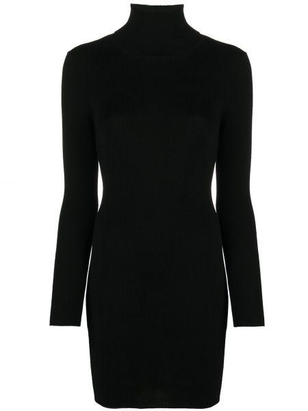 Czarna sukienka mini z długimi rękawami wełniana Junya Watanabe