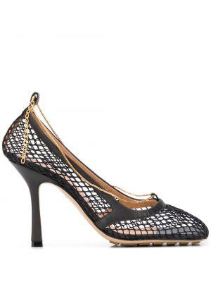Туфли-лодочки кожаные с квадратным носком Bottega Veneta