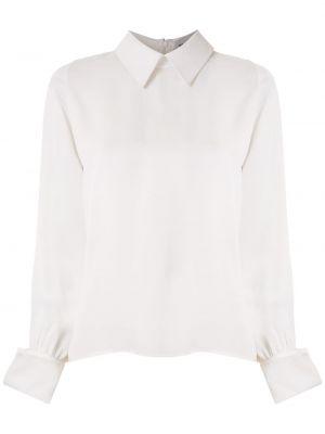 Белая рубашка с воротником из вискозы на молнии Gloria Coelho