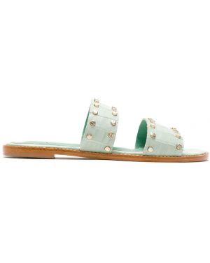 Туфли на каблуке на низком каблуке кожаные Blue Bird Shoes