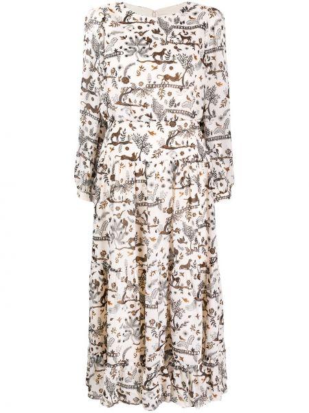 Платье миди на пуговицах на молнии Saloni